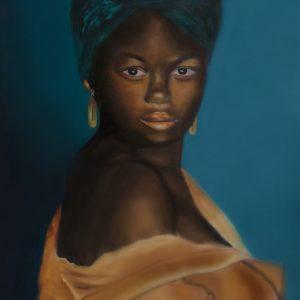 art-print / schilderij ilana de boer. donkere vrouw